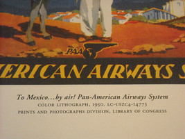 Reproduction Print of Vintage Travel Mexico By Air Pan American Airways System image 4