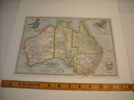 Reproduction print of Vintage map of Australia from The Century Atlas 1897 image 5
