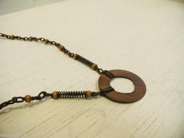 Repurposed tribal punk hand knotted necklace image 3