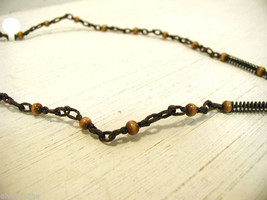 Repurposed tribal punk hand knotted necklace image 5