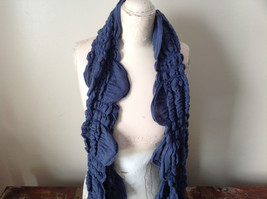 The Magic Scarf Company Gray Blue Cinched Scarf 70 Inches in Length
