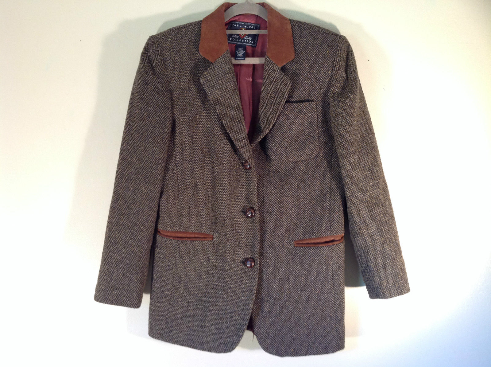 The Limited Collection Blazer Size P Two Fabric Patterns Excellent Condition