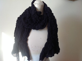 The Magic Scarf Company Pretty Black Cinched Scarf 70 Inches in Length