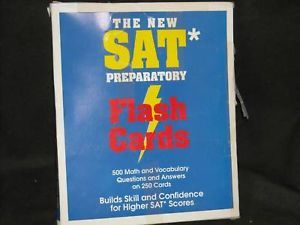 The New SAT Preparatory Flash Card 1994 Study Aid