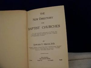 The New Directory for Baptist Churches c. 1944