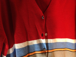 Requirements Long Sleeve Button Up Cardigan Multicolor Stripes Size XL image 2