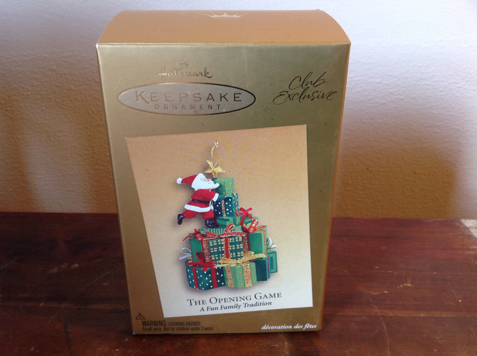 The Opening Game Fun Family Tradition Hallmark Keepsake Ornament Club Exclusive
