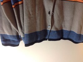 Requirements Long Sleeve Button Up Cardigan Multicolor Stripes Size XL image 5