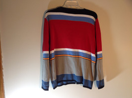 Requirements Long Sleeve Button Up Cardigan Multicolor Stripes Size XL image 7