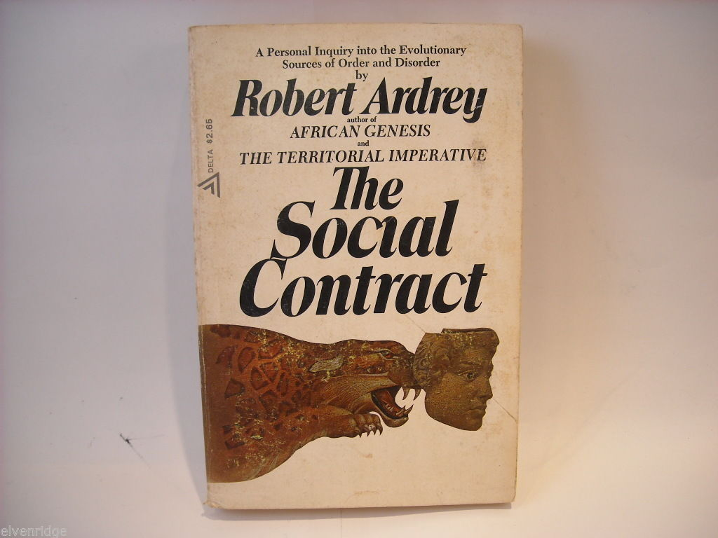 The Social Contract by Robert Ardrey 1970 Softcover