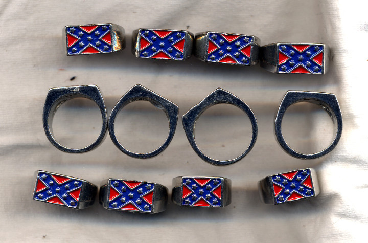 New RebelConfederate Flag Biker Jewelry and 14 similar items