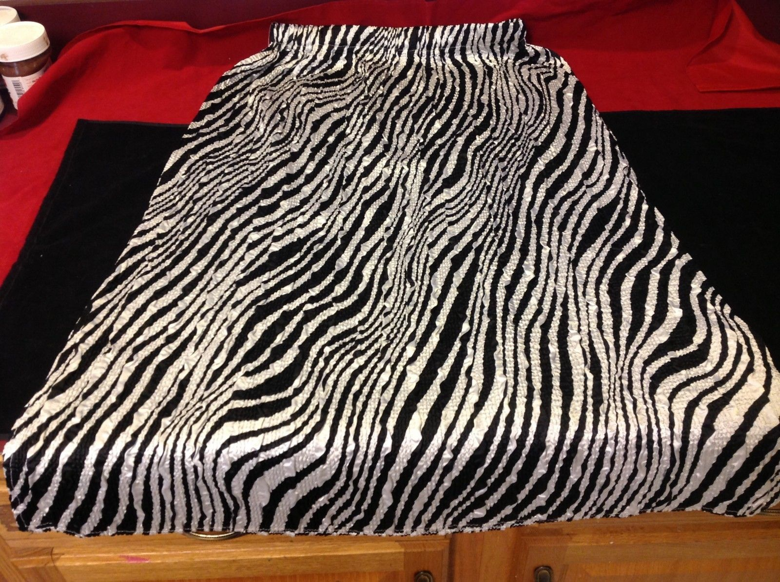 The magic Scarf Co  black and white zebra  womans skirt size small to medium