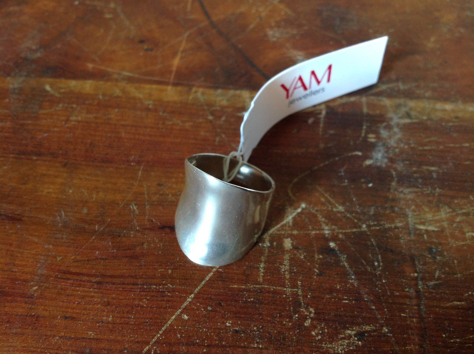 Thick Wide Band Handcrafted 925 Sterling Silver Ring 1 Inch Wide Size 7 OR 8