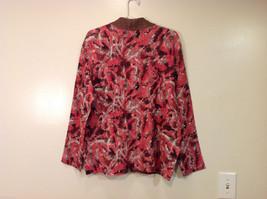Reversible Batik Blush Pink to Solid Brown Pleated Shirt Jacket Top, Size XL-1X image 4