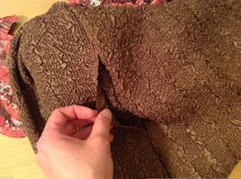 Reversible Batik Blush Pink to Solid Brown Pleated Shirt Jacket Top, Size XL-1X image 6