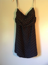 Richard Lang 100 Percent Silk Size 10 Spaghetti Strapped  Polka Dotted Dress image 2