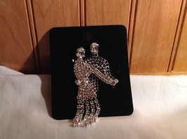 Rhinestone Man and Woman Dancing Pin Womans Skirt Swooshes from Side to Side image 2
