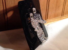 Rhinestone Man and Woman Dancing Pin Womans Skirt Swooshes from Side to Side image 3