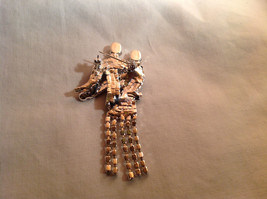 Rhinestone Man and Woman Dancing Pin Womans Skirt Swooshes from Side to Side image 4