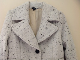 Robert Louis White Black Speckled Double Button Light Winter Peacoat Size S image 2