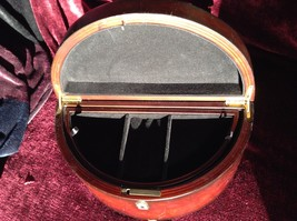 Rosewood   Jewelry Box by Bombay Company Two Sections no key image 5