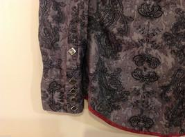 Roper Wear the West Ladies 100% Cotton Gray Snap Buttons up Blouse Shirt, Size L image 5