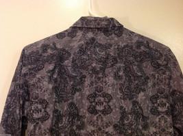 Roper Wear the West Ladies 100% Cotton Gray Snap Buttons up Blouse Shirt, Size L image 7