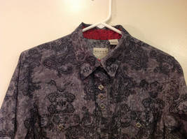 Roper Wear the West Ladies 100% Cotton Gray Snap Buttons up Blouse Shirt, Size L image 3