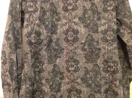 Roper Wear the West Ladies 100% Cotton Gray Snap Buttons up Blouse Shirt, Size L image 8