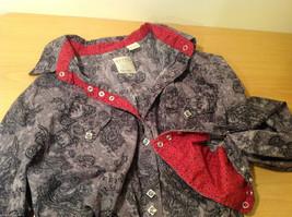 Roper Wear the West Ladies 100% Cotton Gray Snap Buttons up Blouse Shirt, Size L image 10