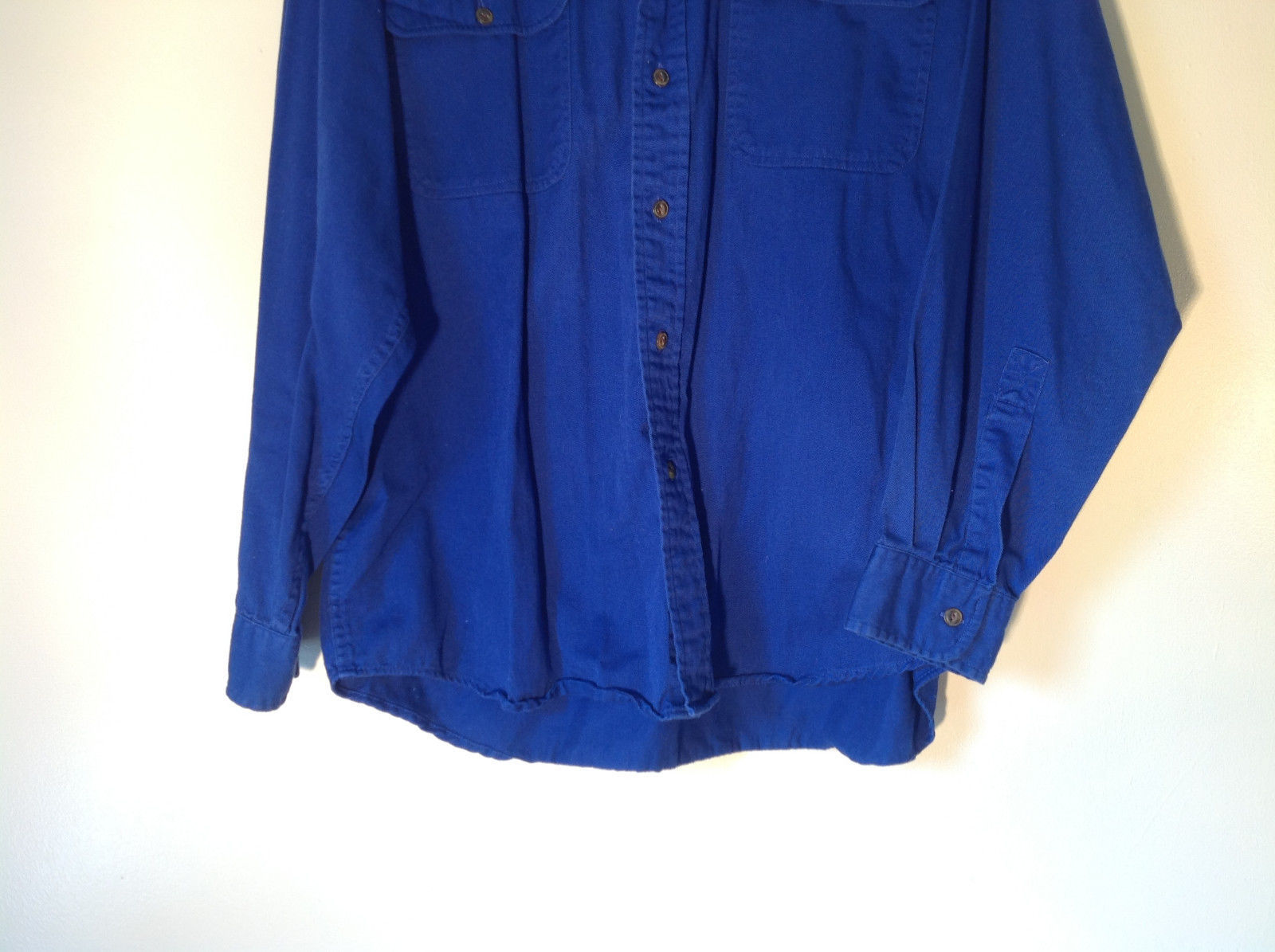 Royal Blue Button Down Long Sleeve Collar Shirt John