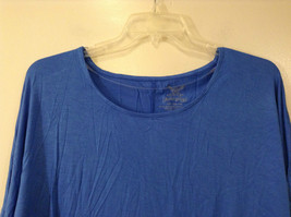 Royal Blue Faded Glory Deep Scoop Neck Top Size Large 12 to 14 image 5