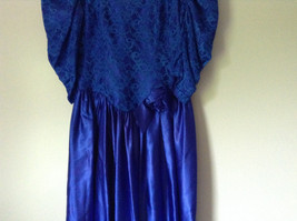 Royal Blue Vintage Ball Gown Dress Laced on Top Bow Zipper on Back image 3