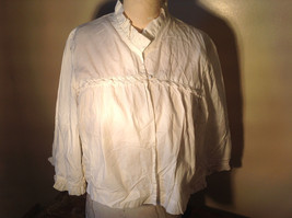 Three Quarter Sleeved White Casual Shirt Truffles on Collar and End of Sleeves