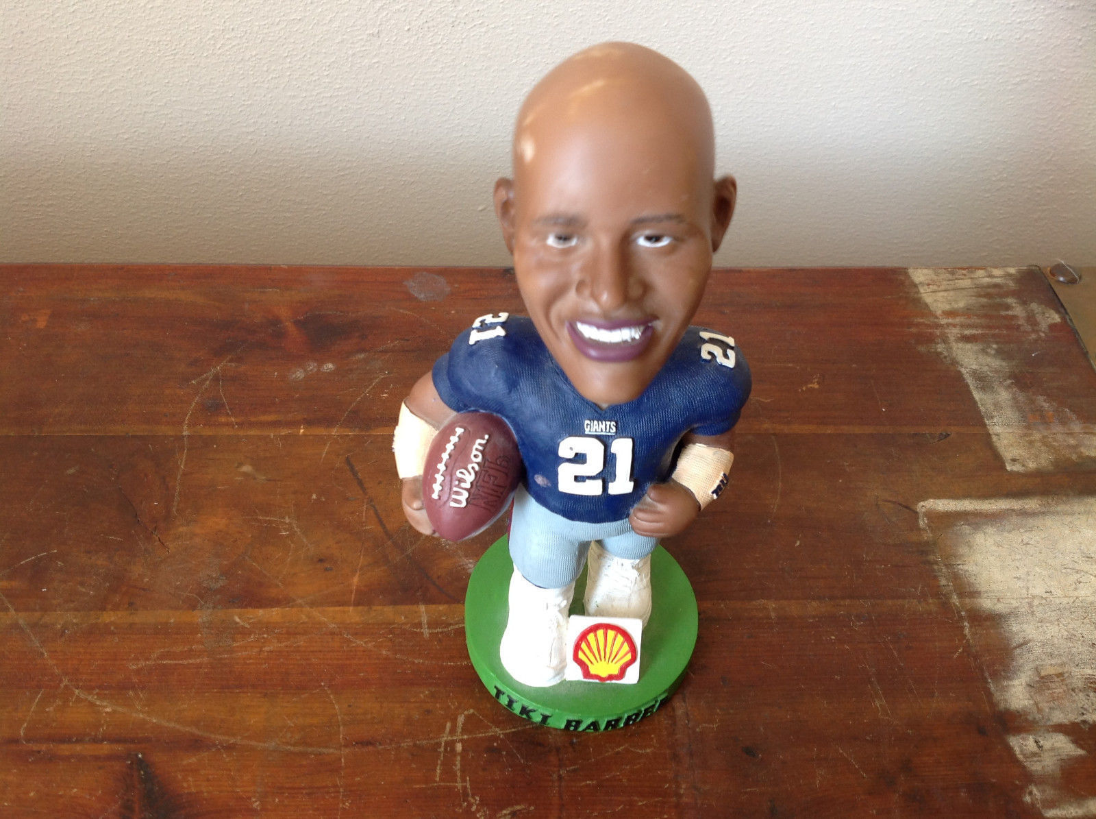 Tiki Barber Collectible Bobble Dobbles Officially Licensed NFL Football