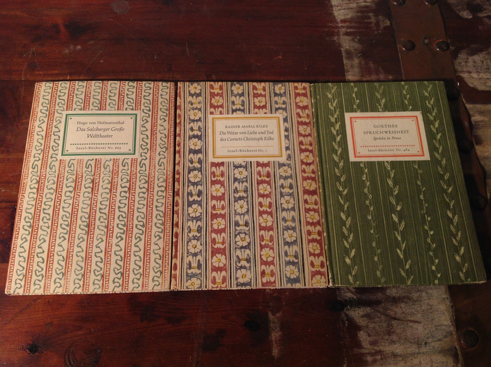 Three Vintage German Prose and Play Books Short Part of a Collection