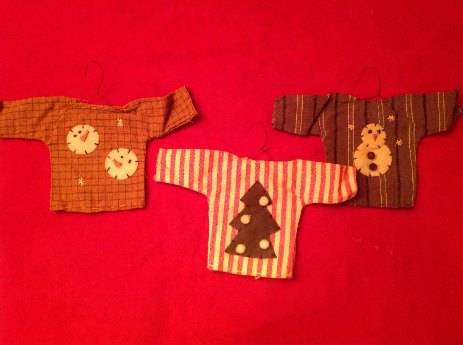Three Shirts Christmas Ornament by Primitives by Kathy Christmas Tree Snowmen