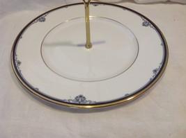 Royal Doulton Princeton pattern china serving plate with handle vintage estate image 3