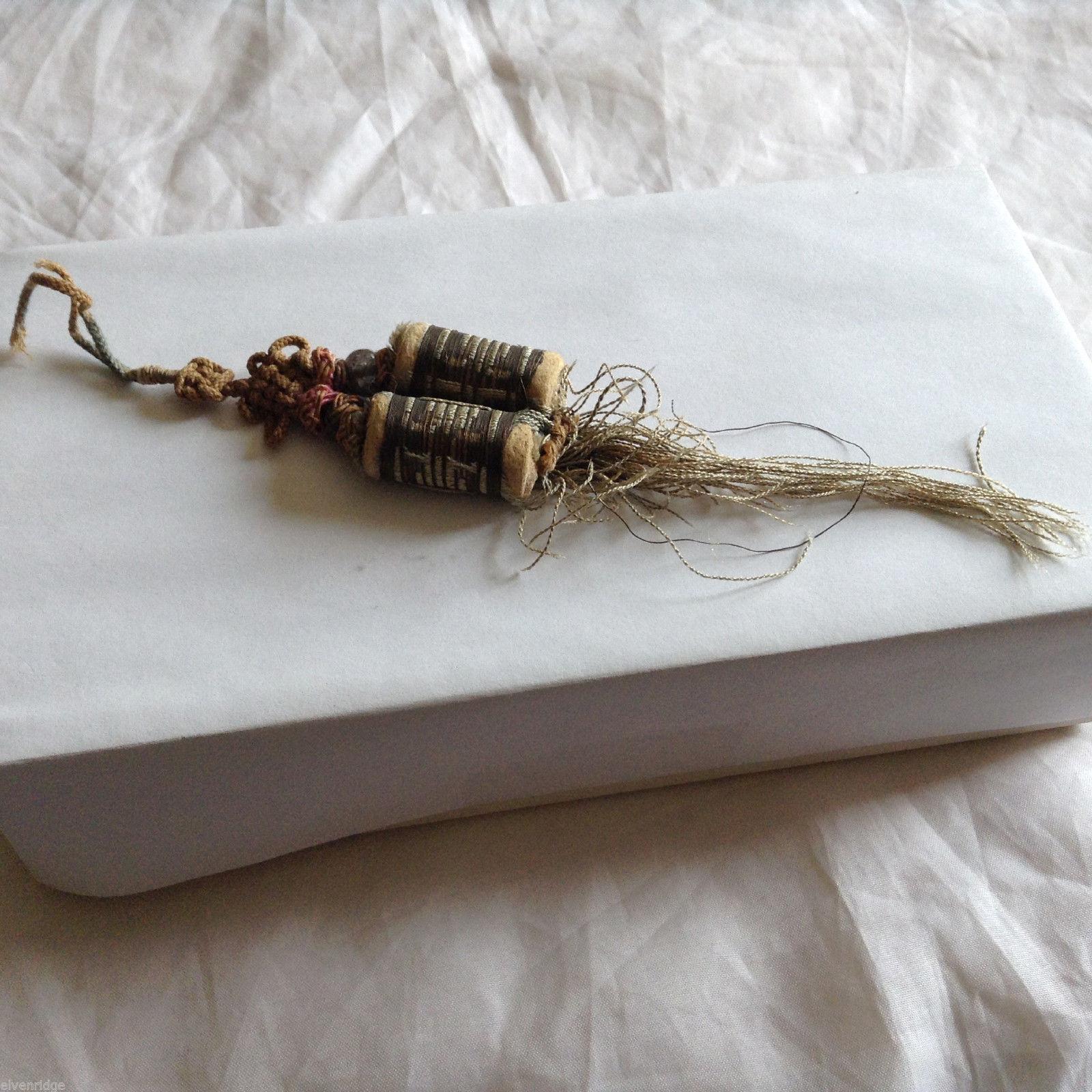Tibetan Vintage Prayer Beads Broken Glass Bead Charm Brown