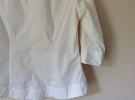 Riders by Lee White Button Down Shirt Collar Instantly Slims You Size Medium image 4