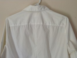 Riders by Lee White Button Down Shirt Collar Instantly Slims You Size Medium image 5