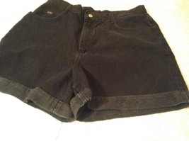 Riders Black Cuffed Bottom Jean Shorts 100 Percent Cotton Size 18M image 4