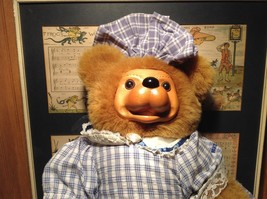 Robert Raikes Large Teddy Bear with Wooden Face Becky Thatcher Limited Edition image 2