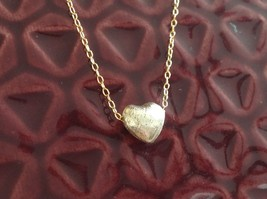 Tiny Heart Necklace Silver Gold Chain with Pearl on  Chain Zina Kao