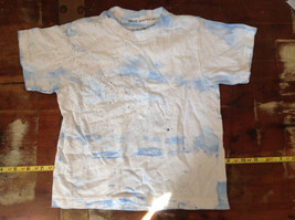 Toddler Blue White Tied Dye T-Shirt by Hanes Size 2 to 4 years