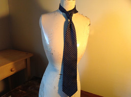 Today's Man Silk Blue with Small Silver Diamonds Tie Made in Italy 56 Inches