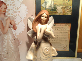 Rose Angel Porcelain Figurine by Angel Star Angel with Heart New In Box image 4