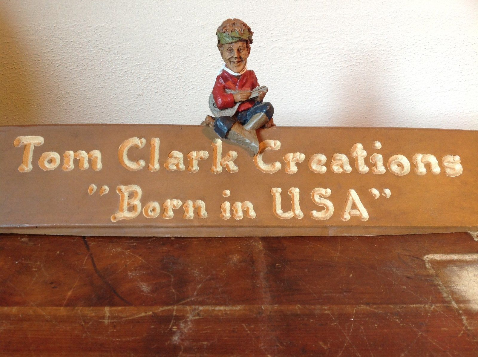 Tom Clarks Creations Born in USA Gnome Playing Lute Figurine