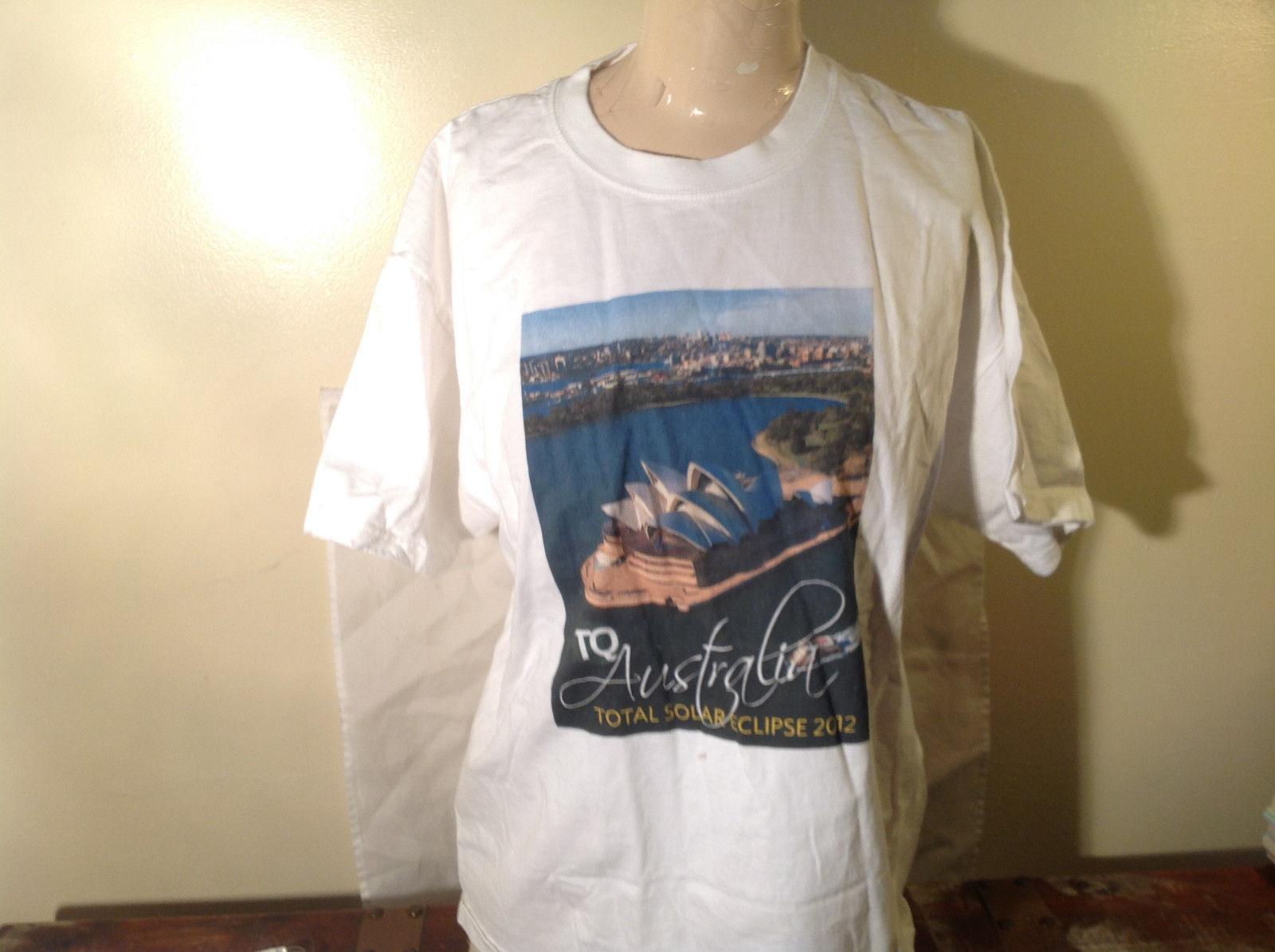 Total Solar Eclipse 2012 Australia TransQuest Tours White T-Shirt Size Large