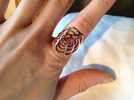 Rose Flower Design Rose Gold Tone Fashion Ring Size 6.25 and 7.5 by Rigant  image 4